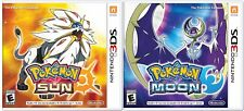 Pokemon Sun and Pokemon Moon Combo Set- Nintendo 3DS
