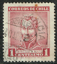 CHILE STAMP RPO RAILWAY CANCEL AMBULANCIA # 48