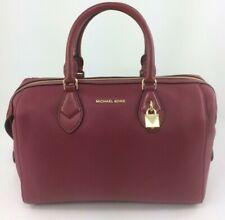 New Authentic Michael Kors Grayson Convertible Satchel Handbag Mulberry Red