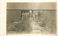 c1910 Occupation Workers Cinder Block Construction Factory RPPC Real Photo
