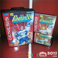 The Punisher Game Cartridge for SEGA Genesis Complete Box and Manual USA Version