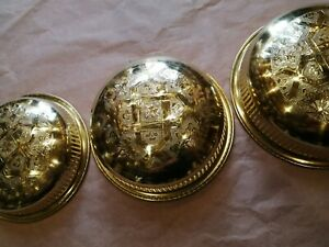 Set of 4 bowls for Moroccan Bathroom Pot Cup Brass copper luxury decoration Fez
