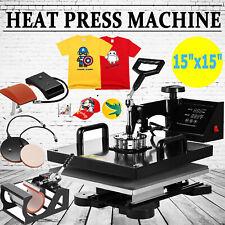 15x15 5 In 1 Heat Press Machine T Shirt Mug Hat Digital Transfer Sublimation