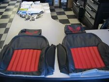 97-02 Trans Am Leather seat covers & door panel inserts Black W/Red W/ TA LOGOS!
