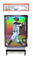 2015 Bowman Chrome RC REFRACTOR Yankees GARY SANCHEZ Rookie Card PSA 9 MINT