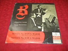 LP ALEXANDER PLOCEK Violin & JOSEF PALENICEK Piano Beethoven Sonata SUPRAPHON