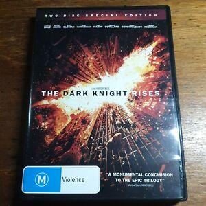 Batman The Dark Knight Rises DVD R4 Like New! FREE POST Christian Bale