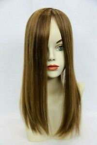 Raquel Welch Indulgence #R10 Chestnut - 100% Remy Human Hair Topper French Drawn