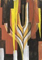 Acquerello Vera Bump Riepilogo 52 Composizione Nero Giallo Braun Bianco Moderno