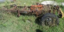 Vintage Truck Chassis Framework with Original Holden Red Engine