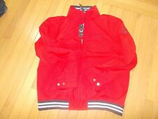 NWT MENS TOMMY HILFIGER WATER RESISTANT REGATTA JACKET LARGE L red