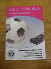 04/05/2014 Chelmsford Sunday League Division 3 Cup Final: Chelmer Wanderers v Ha