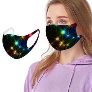 Washable Random Starlight Xmas Lights Unisex Adult Face Mask covering UK Seller