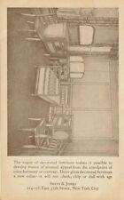1926 FURNITURE CARD (SMITH & JONES, NEW YORK CITY