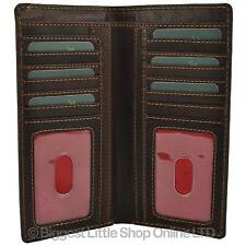 NEW Mens Quality Leather Suit Jacket Wallet by PrimeHide RFID Protection Outback
