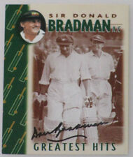 DON BRADMAN Hand Signed Weet Bix Card