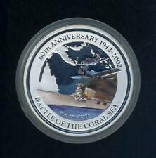 60th Anniversary of The Battle of Coral Sea Coloured 10oz Silver Proof Coin