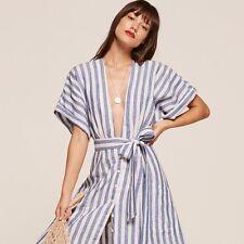 $218 REFORMATION ~ Geneva Stripe Dress (Croatia) Size 0 XS