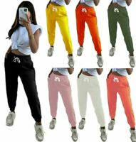 Ladies Pocketed Cuffed Bottom Joggers Pants Womens Casual Wear Jogging Trousers