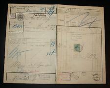 KÖNIGLICHE EISENBAHN-DIRECTION CÖLN-Frachtbrief Wanne-Bünde 1910