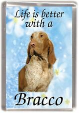 "Bracco Italiano Dog Fridge Magnet ""Life is better with a Bracco"" by Starprint"