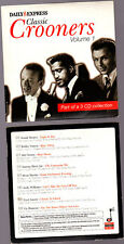 Promo CD, Crooners Vol 1, Bobby Vinton, Andy Williams, Vic Damone, Fred Astaire