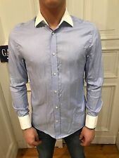 H&M Business Hemd Freizeithemd Shirt Gr. S blau 100% Baumwolle wie NEU