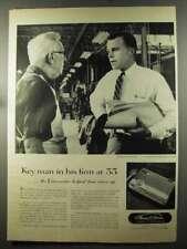 1956 Thomas A. Edison Voicewriter Ad - Key Man in Firm