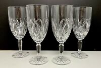 WATERFORD Crystal BROOKSIDE Marquis Iced Tea Beverage Goblet GlassSet Of 4