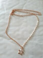 """Rose Gold Fine Star Charm Necklace 18"""""""