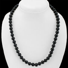 MOST DEMANDED CTS NATURAL BLACK SPINEL ROUND BEADS NECKLACE
