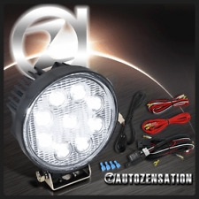 "4.5"" Round Off Road 4X4 9 LED Driving Flood Work Fog Light Kit+Wires+Switch"
