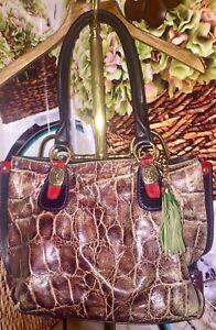 Marino Orlandi XL Handbag Satchel Hobo Purse Leather Auth Gold Hardware RARE~