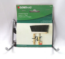 ClosetMaid 2 Handle Hang-Up Holds Brooms, Shovels, Mops, etc 35563