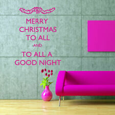 Wall Decal Merry Christmas Spruce Inscription Congratulation Good Night M556
