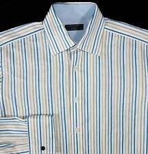 Ted Baker Men's Striped French Cuff Long Sleeve Dress Shirt Size 15.5