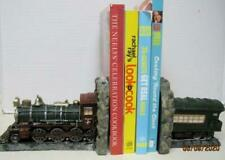 Train Book Ends Engine and Passenger Car