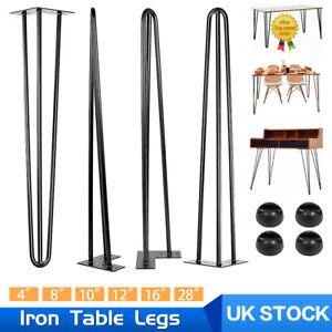Set of 4 Hairpin Legs Industrial Metal Hair Pin Table Leg Set Table Furniture UK
