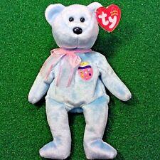 TY Beanie Baby EGGS II The Blue EASTER Egg Teddy Bear Retired MWMT - Ships Free