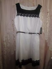 New York & Company Black and White Dress  Size 18  NWT $70