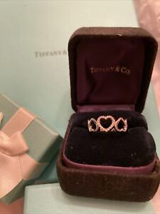 Gorgeous Authentic Heart Diamond Tiffany & Co Ring Sz 6 In White Gold