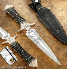 IMPACT CUTLERY RARE CUSTOM KNIFE   FULL TANG BOOT KNIFE DAGGER ENGRAVED COPPER