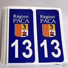 2 stickers REFLECHISSANT département 13