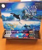 Lot of 288 Christian Riese Lassen Berol No. 2 Pencils, Aquatic Scenery NOS