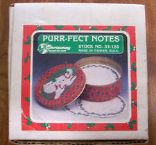Adorable Purr-Fect Notes X-mas kittens tin with note paper - NEW - LQQK