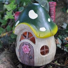 Magical Mushroom House Garden Ornament LED LIGHT Woodland Home Elf Pixie 39207