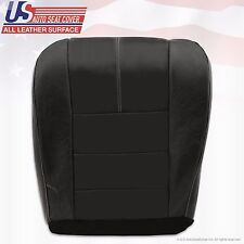 2008-2010 Ford F-250 F-350 F-450 F-550 Passenger Bottom Leather Seat Cover BLACK