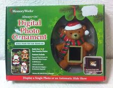 MEMORY WORK DIGITAL CHRISTMAS  BEAR PHOTO ORNAMENT WITH BONUS FRAME NIB