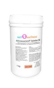 O²-Tabs 20g chlorfrei - 1,0 kg / Aktivsauerstoff Tabletten 20g / Sauerstofftabs