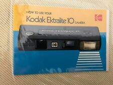 Vintage Camera Instruction Manual Kodak Ektralite 10 Camera Book